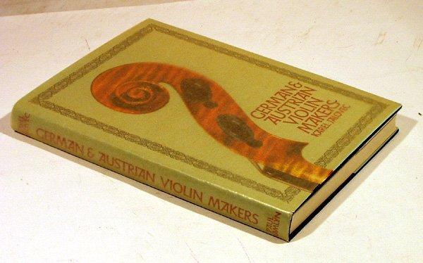 6003: Jalovec GERMAN AUSTRIAN VIOLIN MAKERS 1967 1st Ed