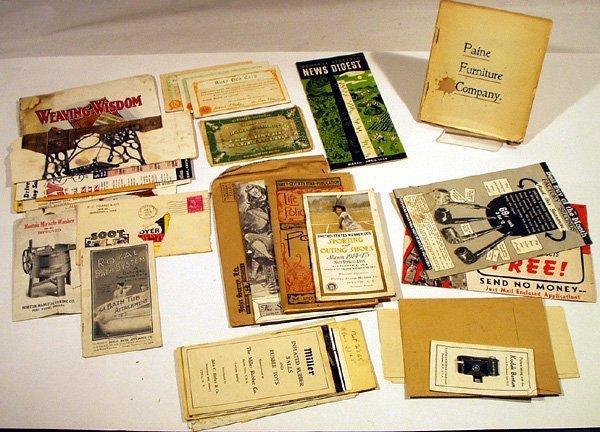 6019: Paine Furniture ADVERTISING EPHEMERA Kodak Newcom