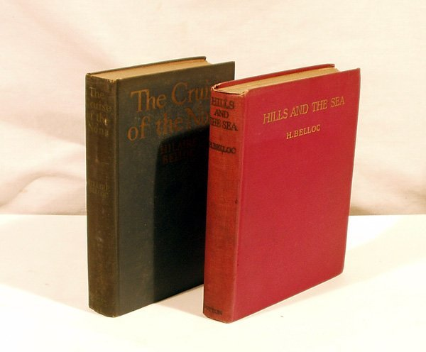 6025: 2V Hilaire Belloc CRUISE NONA HILLS 1920s 1st Eds