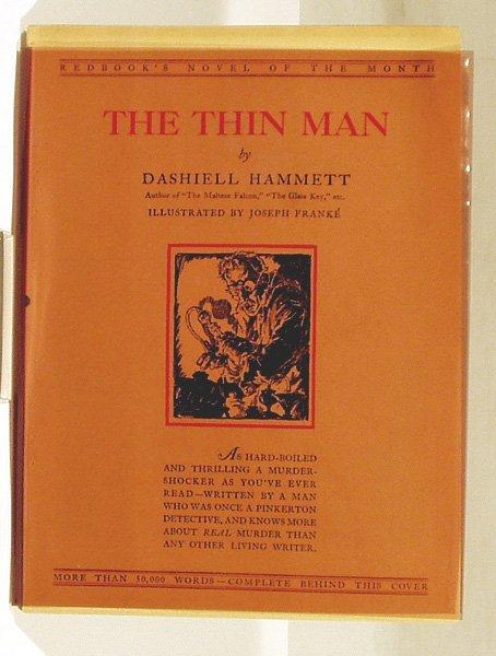 6209: Hammett THE THIN MAN 1933 Redbook Magazine Novel
