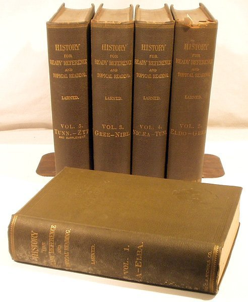 7026: 5V Larned HISTORY READY REFERENCE 1895 Complete