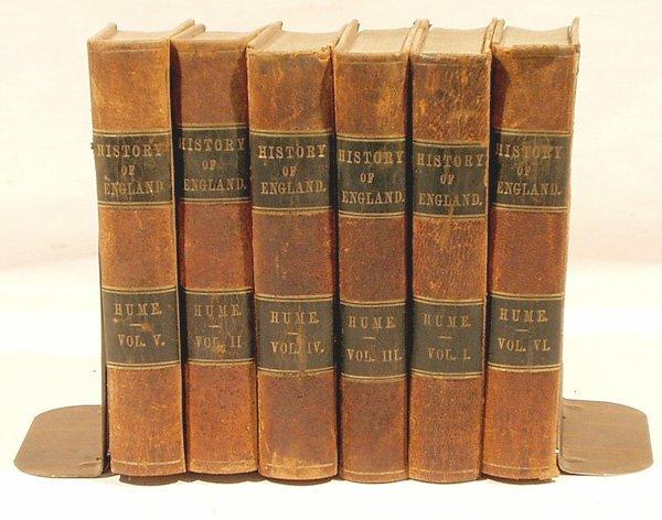 8016: 6V Hume HISTORY OF ENGLAND 1861 Fancy Calfskin