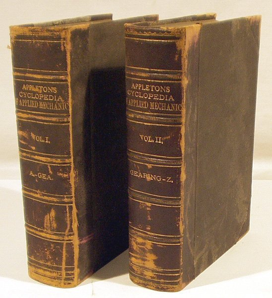 8031: 2V Benjamin CYCLOPAEDIA APPLIED MECHANICS 1880