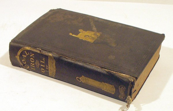 8036: SIGNED Daddow Bannon COAL IRON OIL 1866 Mining PA