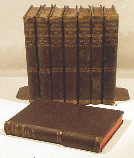8077: 8V SPONS' DICTIONARY ENGINEERING 1871 4 Languages