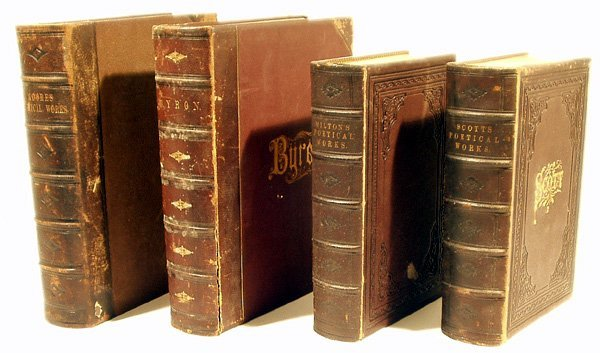 9030: 4V Fancy Binding ANTIQUE LEATHER POETRY 1870s