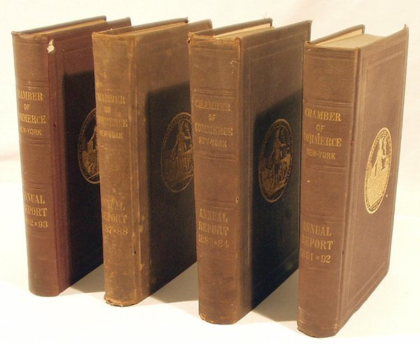 1022: 4V NEW YORK CHAMBER OF COMMERCE Reports 1884-93