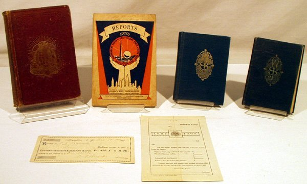 1025: 6pcs White Shrine FRATERNAL Odd Fellows Ephemera