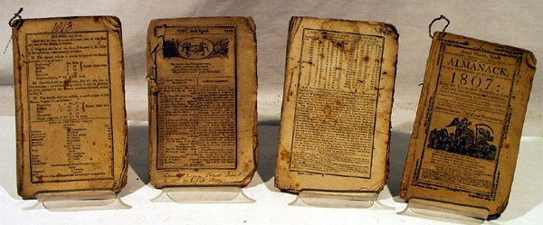 1029: 4V Early AMERICAN ALMANACS 1807-21 Almanack Thoma