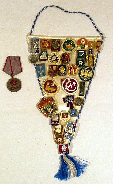 3003: 32 Soviet Russian PINS Communist Balalaika Hockey