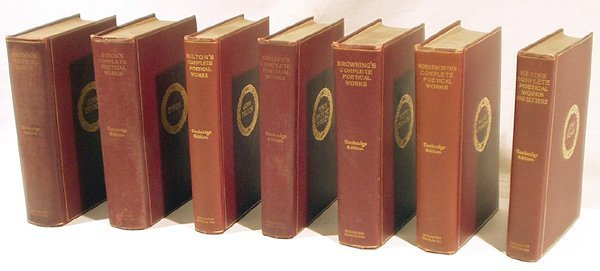 3027: 7V Keats Byron DECORATIVE ANTIQUE POETRY Dryden