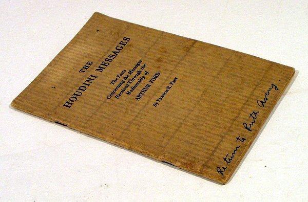 4002: Fast HOUDINI MESSAGES 1929 Medium Arthur Ford