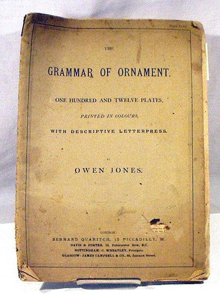 4110: Jones GRAMMAR OF ORNAMENT c1890 Color Lithographs