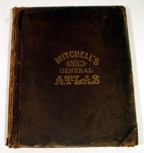 5001: Mitchell's NEW GENERAL ATLAS 1866 World Color Map