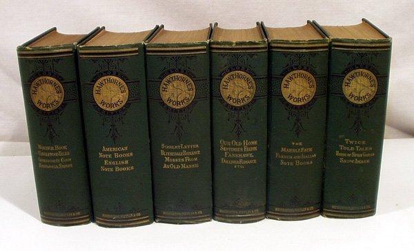 5006: 6V WORKS OF NATHANIEL HAWTHORNE 1870 Globe Ed