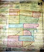 5167 1856 Clinton County NY WALL MAP Plattsburgh Chazy