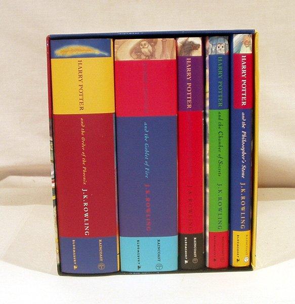 5255: 5V SIGNED Rowling HARRY POTTER SET Authenticated