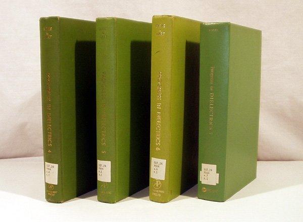 9013: 4V Birks PROGRESS IN DIELECTRICS 1967 Vols 4-7