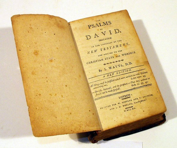 9021: Watts PSALMS OF DAVID 1790 Rare Christian Leather