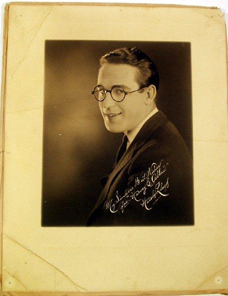8004: Harold Lloyd ORIGINAL SIGNED PHOTOGRAPH Hollywood