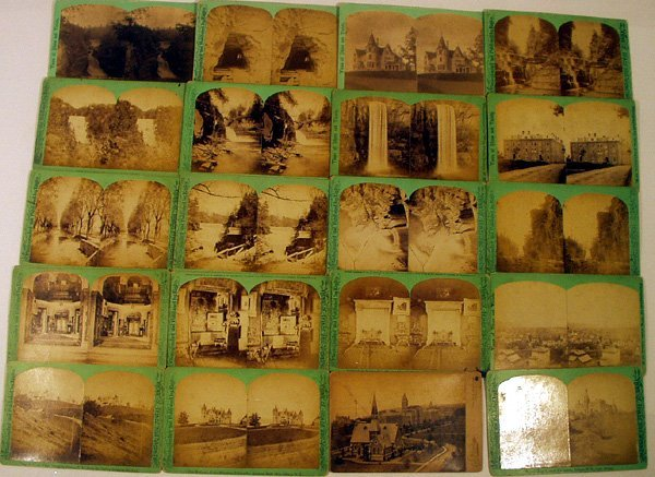 8006: Cornell Ithaca 20 STEREOVIEW CARDS Gorges Falls