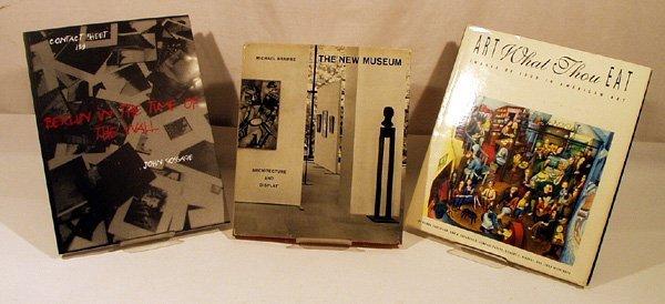 8019: 3V Gossage Food Brawne ART BOOKS Museum Photos