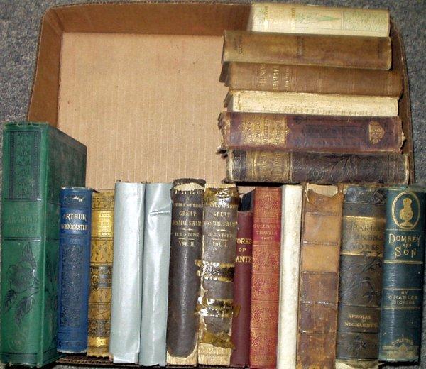 2215: Dickens Dante Swift ANTIQUE LITERATURE Stowe