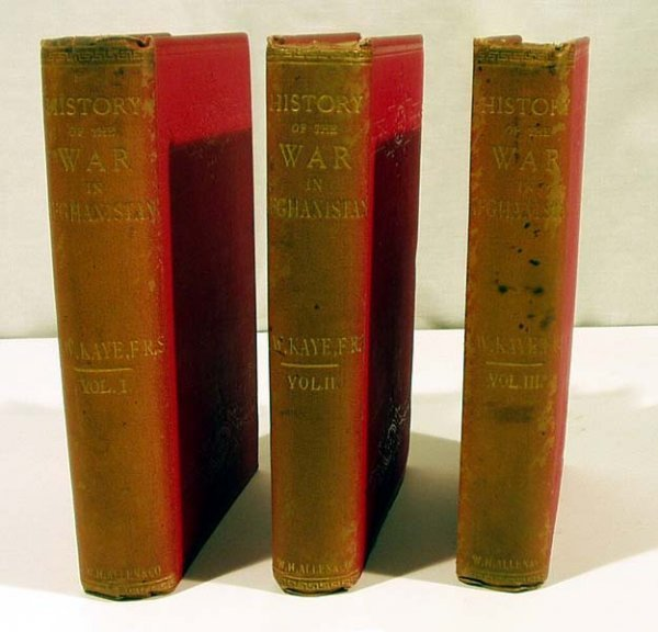 3002: 3V Kaye HISTORY OF THE WAR IN AFGHANISTAN 1890