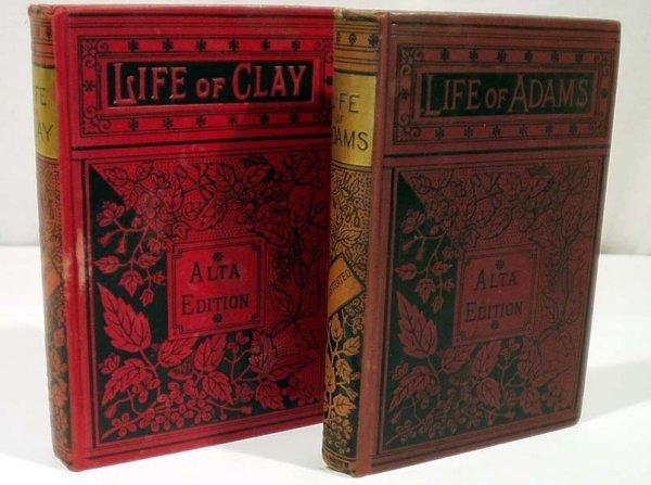 3005: 2V Seward Sargent LIFE CLAY ADAMS c1890 Antique