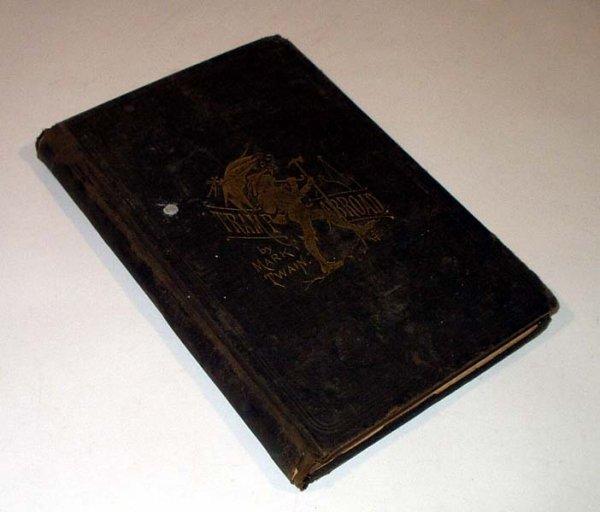 3387: Twain TRAMP ABROAD 1879 1st Salesman Sample Dummy