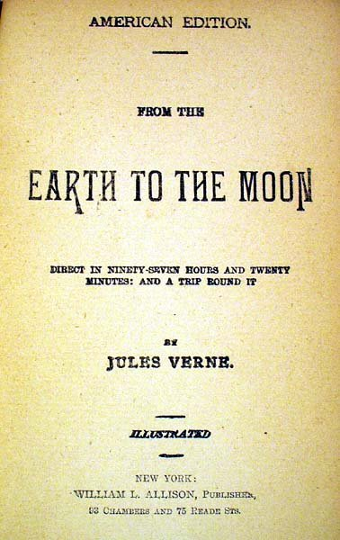 6020: Verne FROM THE EARTH TO THE MOON Early US edition