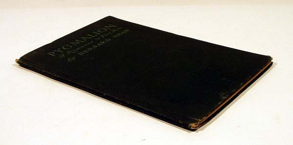 8002: Shaw PYGMALION ROMANCE IN FIVE ACTS 1914 1st Ed.