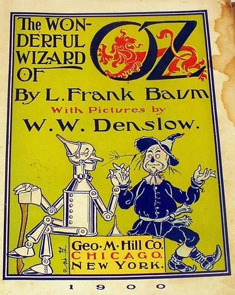 8344: Baum WONDERFUL WIZARD OF OZ 1900 1st Ed Denslow