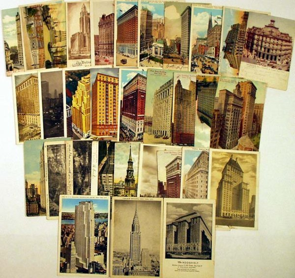 9015: 60Pc ANTIQUE NEW YORK CITY POSTCARDS Landmarks