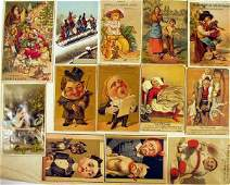 9221: Victorian Litho ANTIQUE TRADE CARDS Exaggerated