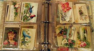 9433: Victorian Lithographs TRADE CARD SHEETS Flowers