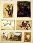 9521: Victorian GREETING TRADE CARDS Lithographs