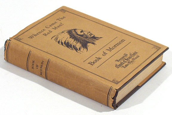 533: Book of Mormon 1926 Red Man Dustjacket