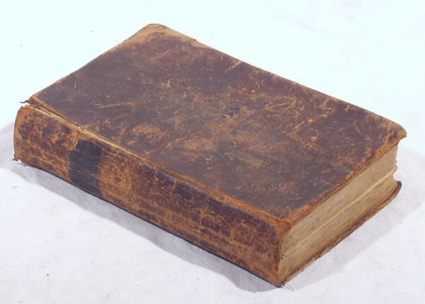 514: 1843 Leather Family Bible LOOMIS Gang New York