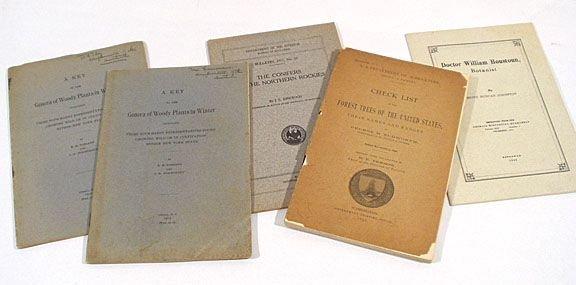 518: Early US Botany Titles author signed 5v.