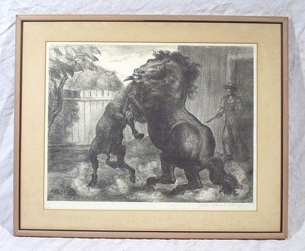 543: John Steuart Curry Ltd SIGNED LITHO Jack Stallion