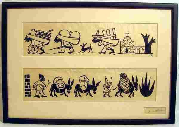 Jean Charlot MEXICAN PILGRIMAGE c1930 Original