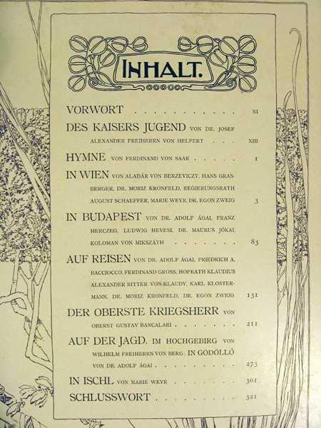 Max Herzig VIRIBUS UNITIS DAS BUCH VOM KAISER 1898 - 6