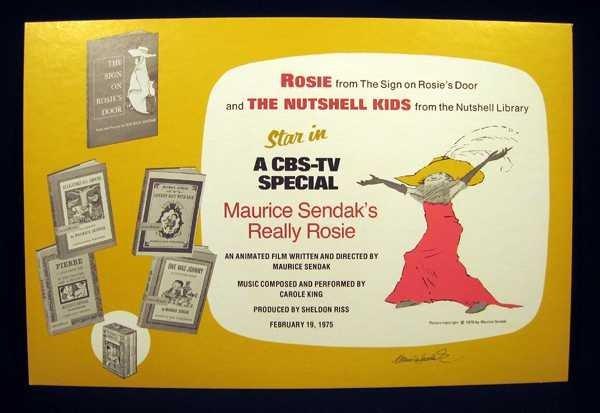 Maurice Sendak ROSIE AND THE NUTSHELL KIDS 1974