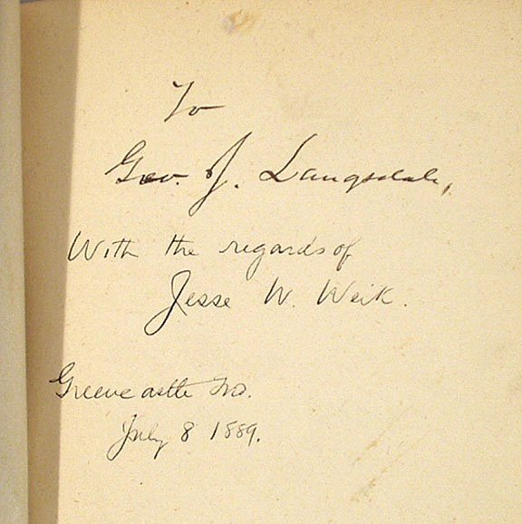 1181: HERNDON'S LINCOLN Weik SIGNED 1889 First Edition  - 3