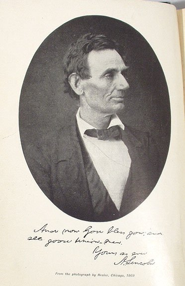 1181: HERNDON'S LINCOLN Weik SIGNED 1889 First Edition  - 4