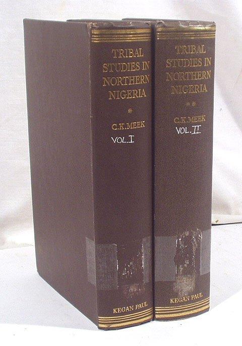 3006: Meek TRIBAL STUDIES NORTHERN NIGERIA 1931 2v.