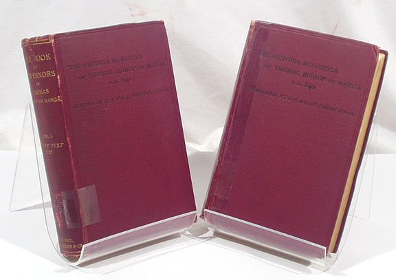 3020: Budge BOOK OF GOVERNORS 2 vols. 1893