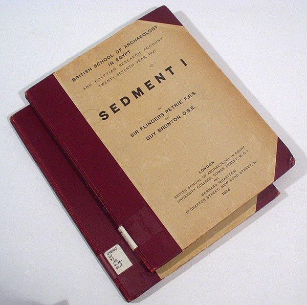 3007: Petrie 2v SEDMENT I, II 1924 Herakleopolis