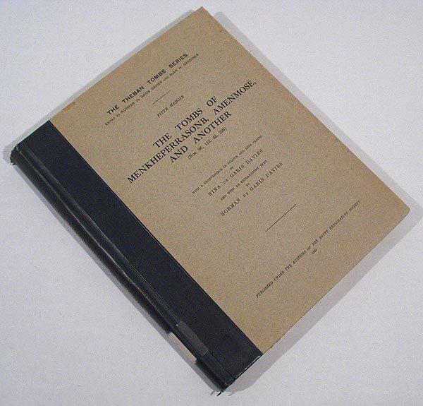 3009: de Garis Davies THREE THEBAN TOMBS 1933